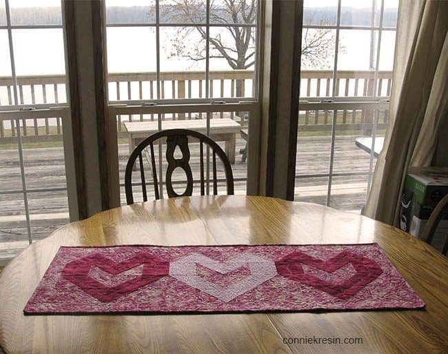 Valentine Table runner Tutorial