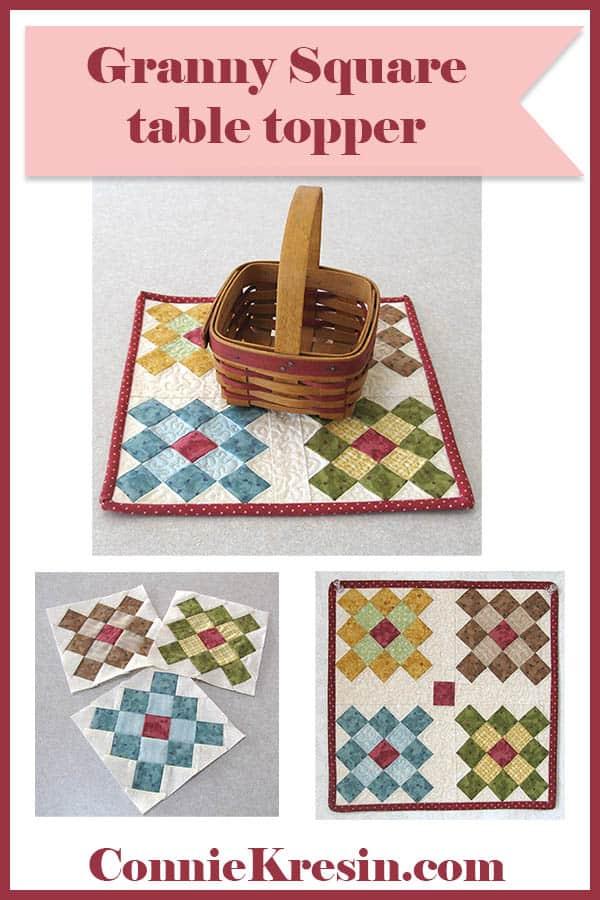 Easy Granny Square Table Topper