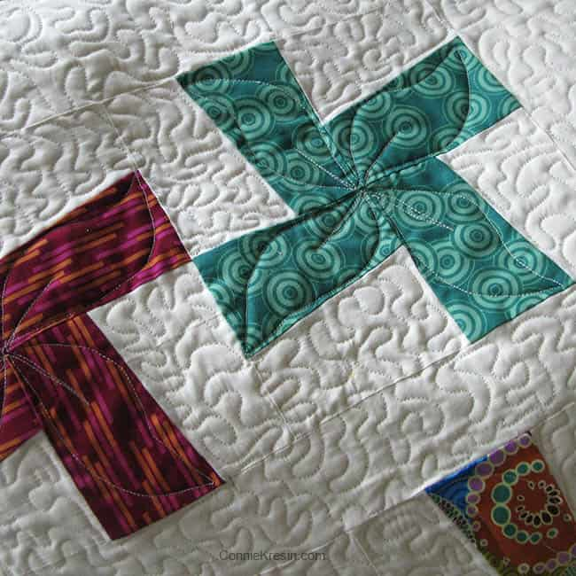 Quilting River Whirls blocks