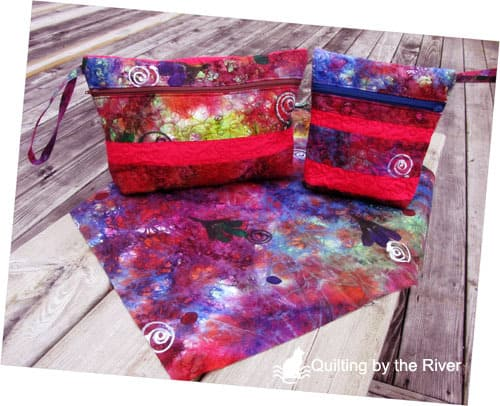Wild zippered pouches