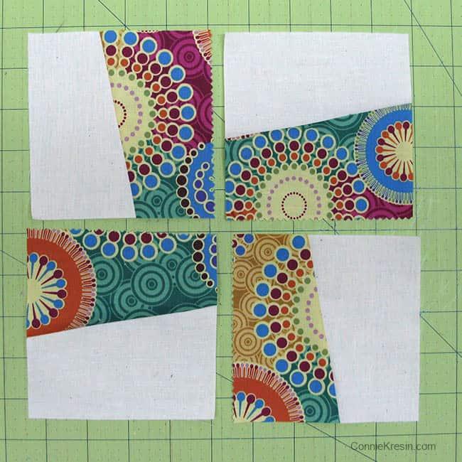 sew 4 blocks together