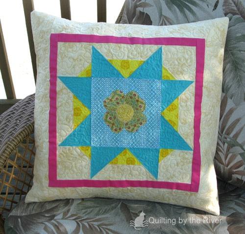 Spring Stars Quilt Pillow