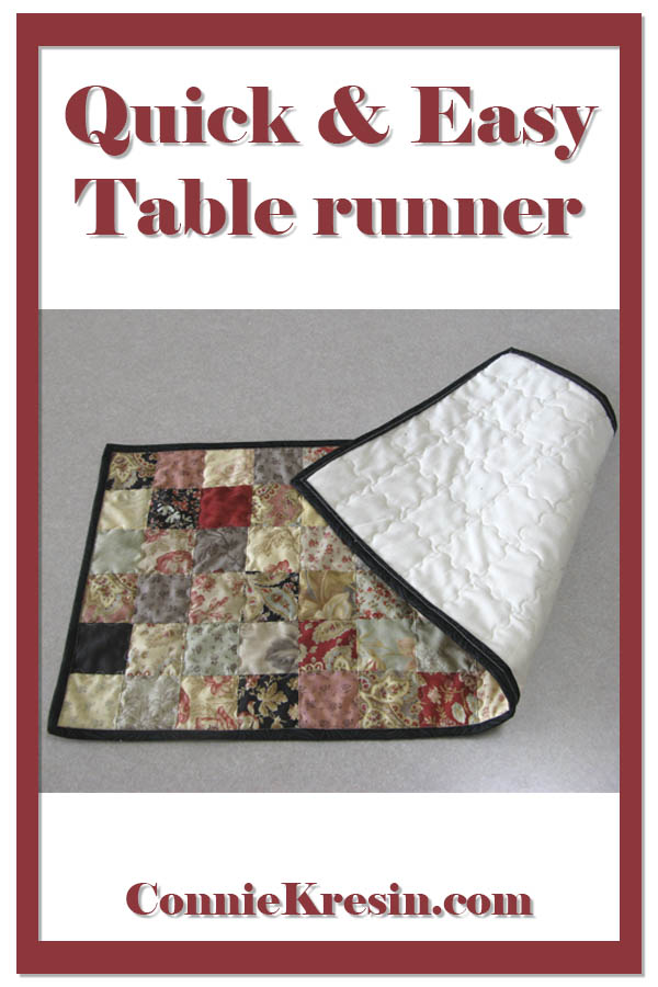 Quick and easy Table Runner tutorial easy to make