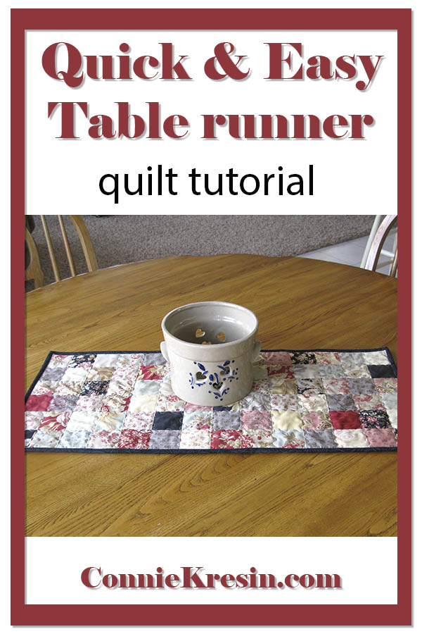 Quilt tutorial for a quick and easy quilted table runner