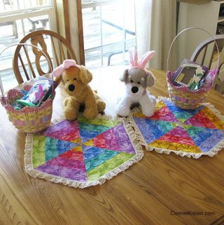 Rainbow table topper tutorial perfect for Easter