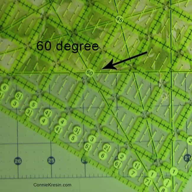 60 degree mark on regular ruler