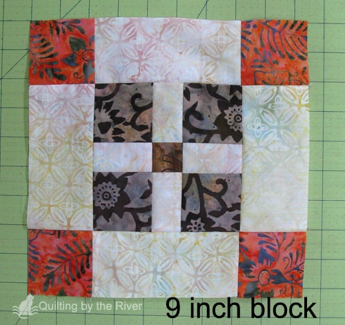 Batik quilt block tutorial