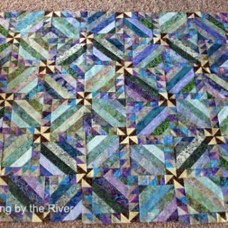 Blue intertwined batiks