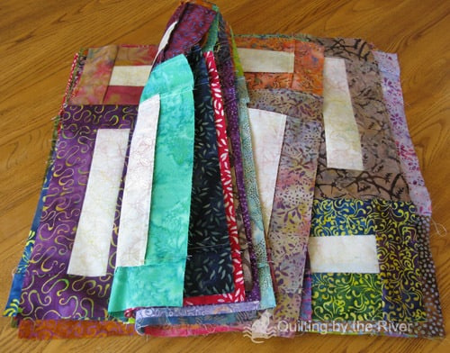 Batik fabric for quilt blocks