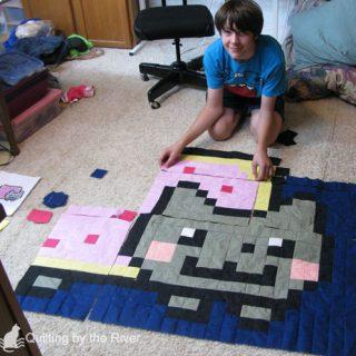 Nyan Cat quilt – the Beginning
