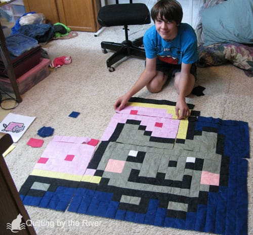 Nyan Cat quilt - the Beginning