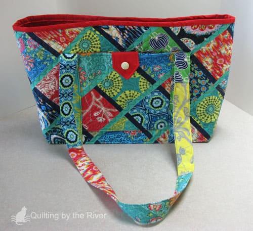 Created fabric huge tote bag