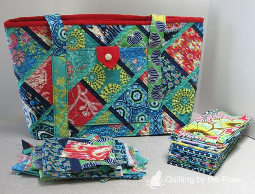 Large tote with lark fabrics