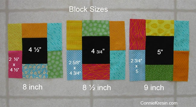Midnight Glow Quilt Tutorial blocks