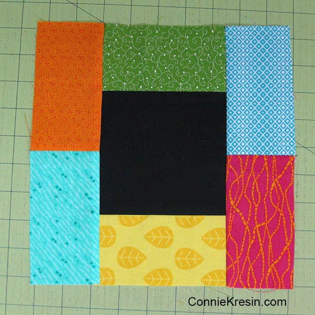 Midnight Glow Quilt Tutorial quilt block sewn together