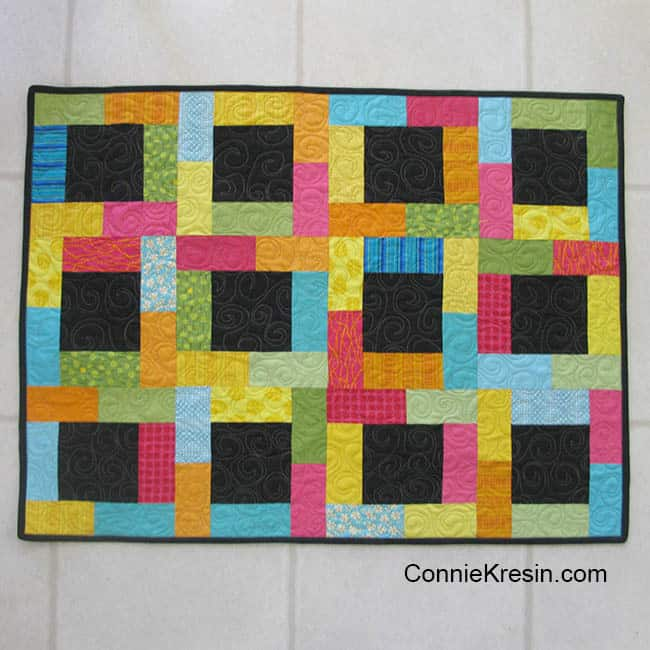 Midnight Glow Quilt Tutorial quilt finished