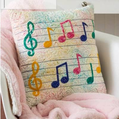 Musical Pillow free quilt pattern