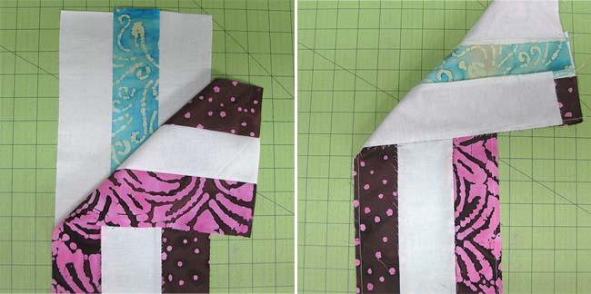 Petunia Strings quilt block