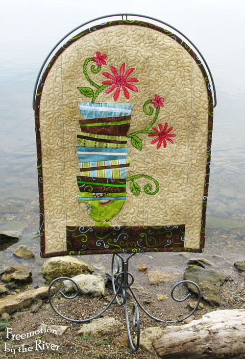 Batik River Bowl Wall Hanging
