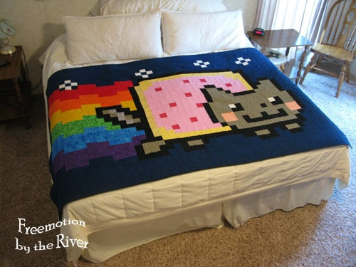The first Nyan Cat Quilt