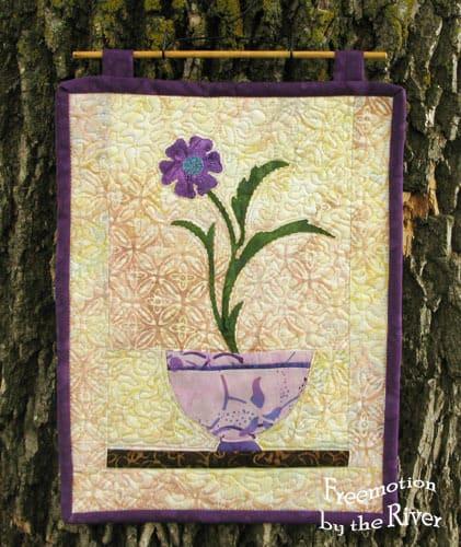 Purple Batik bowl wall hanging