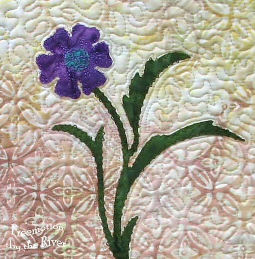 Purple Batik bowl wall hanging