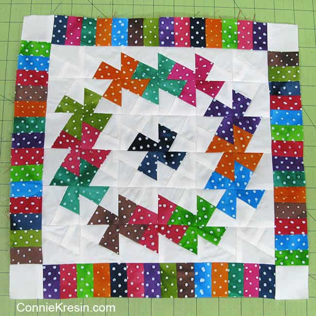 Adding border to twister dot table topper