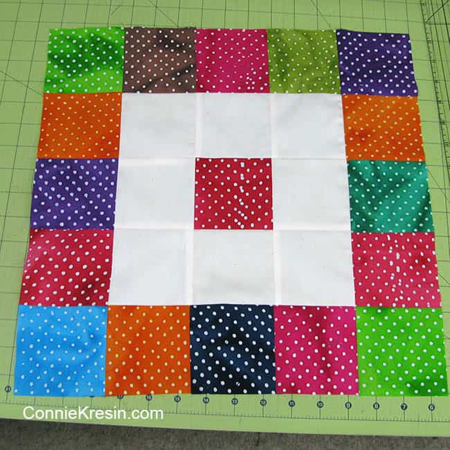 Completed Twister Dots table topper center