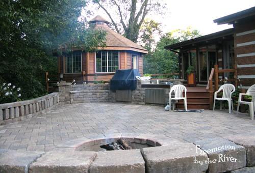 Gazebo and brick patio