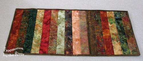 Batik Table Runner Strips fall colors