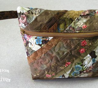 Brown string pouch