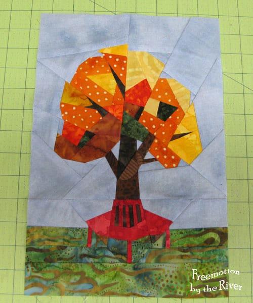 Golden October Paper Piecing