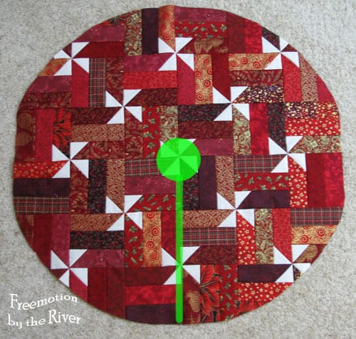 Christmas Tree skirt cutting