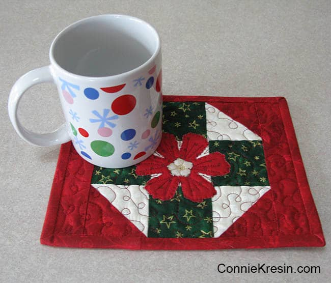 Christmas Mug Rug Tutorial