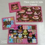 Kids placemats and coaster tutorial
