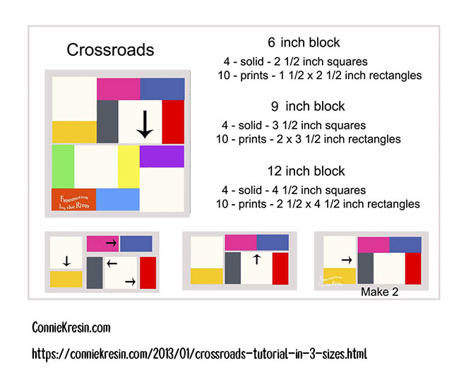 Crossroads block graphic
