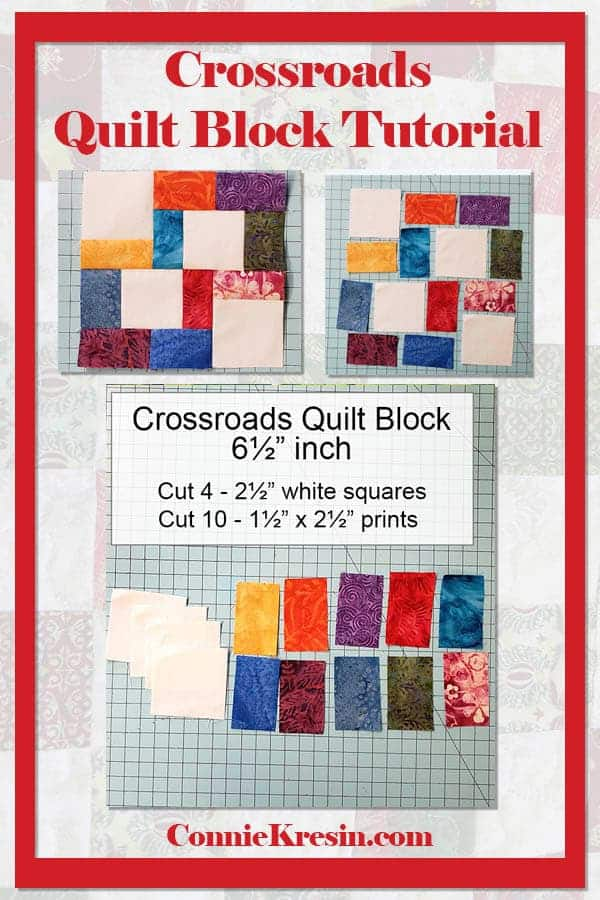 Crossroads quilt block tutorial is fast and easy to make