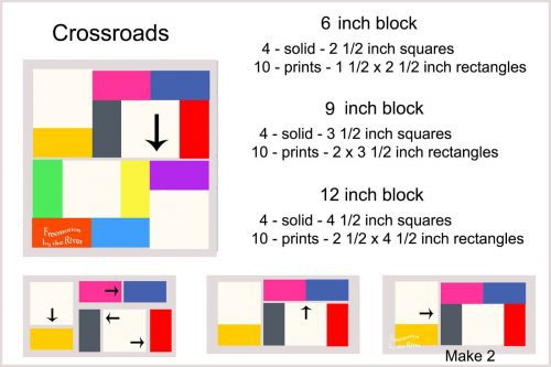 Crossroads quilt block info graphic