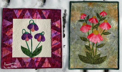 Applique Coneflower Wallhanging