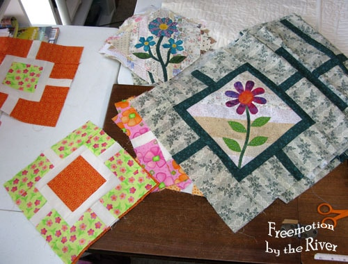 Garden Fence Blocks with Applique