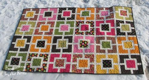 Garden Maze Quilt from tutorial