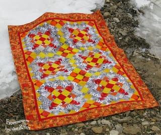 Tangerine Easy Street on the ice