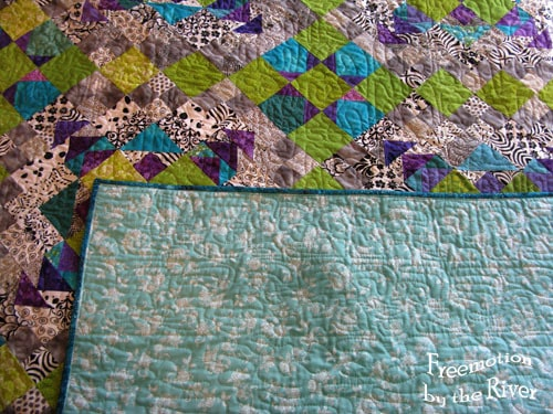 Quilting on front and back of Easy Street