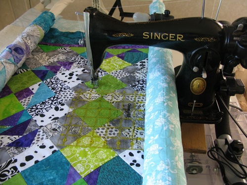 Vintage 4040 Singer On A Quilt Frame Freemotion By The River New Quilting Frame For Domestic Sewing Machine