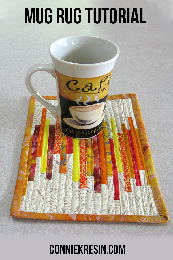 Mug rug tutorial tiny strips