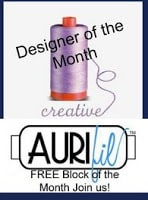 Aurifil Designer of the Month September block