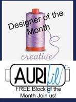 Aurifil Designer of the Month September block