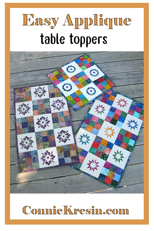 Maple Leaf table topper from the Modern 9 patch quilt pattern