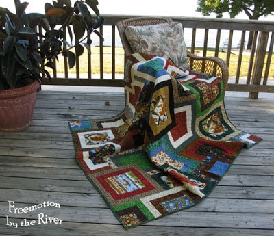 Ramblin Bear quilt at Freemotion by the River