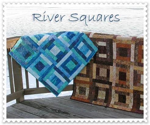 River Squares quilt pattern